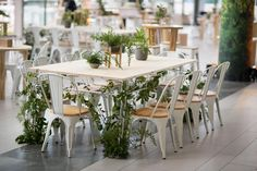 ~natural~Custom tables with greenery