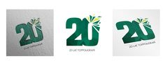 Logo for the 20 anniversary of the printing company on Behance