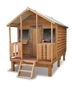 The Awesome  Cubby  Wooden Playhouse