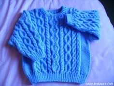 Hand knitted round neck jumper http://www.dazzlemarket.com/ads/handk-knitted-round-neck-jumper/