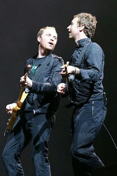 Chris Martin & Jonny Buckland #coldplay