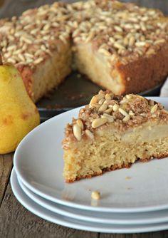 Pear Pine Nut Coffee Cake | mountainmamacooks.com