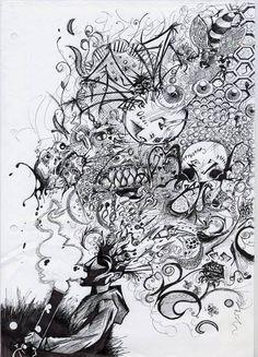 Open your mind - Cannabis Bong Art