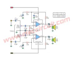 small ic power amplifier circuits for speaker circuits and speakers rh pinterest com High Power Amplifier Circuit Diagram 4Ooow Power Amplifier Circuit Diagrams