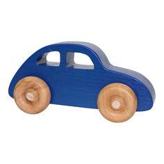 Houten speelgoed auto kever blauw