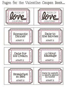 DIY - coupons: Kan je echt geen cadeautje verzinnen? Geef jouw Valentijn dan een aantal coupons, die hij of zij op elk moment bij jou kan inleveren.