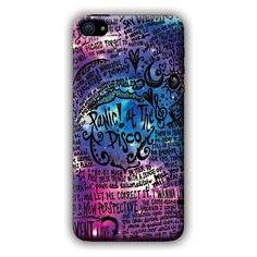 Panic AT The Disco (lyric scrawl) iPhone 5c Case ($97) ❤ liked on Polyvore featuring accessories, tech accessories, phone cases, phones, cases and electronics