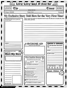 Instant Personal Poster Sets: Extra, Extra, Read All About Me!: 30 Big Write-and-Read Learning Posters Ready for Kids to Personalize and Display With Pride! School Worksheets, Worksheets For Kids, Printable Worksheets, Printables, Free Printable, 5th Grade Worksheets, Spelling Worksheets, Addition Worksheets, Science Worksheets