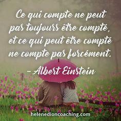 Ce qui compte ne peut pas toujours être compté, et ce qui peut être compté ne compte pas forcément. – Albert Einstein
