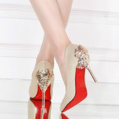 Wedding shoes Prom Evening Clubwear pumps Party Super high heels Size 8 9 10