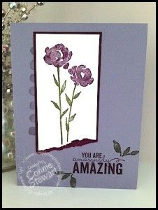 FLASH CARD 2.0 - Painted Petals Amazingly Amazing Card - video tutorial at www.SimplySimpleStamping.com