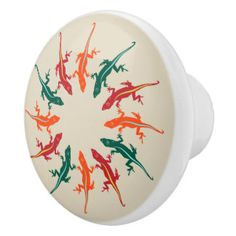 Zazzle is the place to find wonderful Lizard knobs and pulls. Browse all of our knobs & pulls designs and choose your favorite. Door Pulls, Knobs And Pulls, Ceramic Knobs, Lizards, Decorative Plates, Colorful, Ceramics, Design, Ceramica
