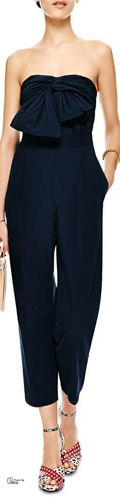 MSGM ● Bow-Detail Cotton-Poplin Jumpsuit