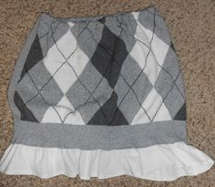 up cycled sweater skirt