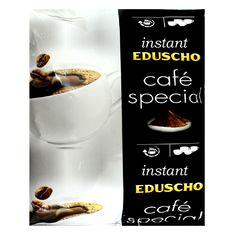 Eduscho Café Special Instant ist eine lösliche Bohnenkaffee-Mischung aus Robustabohnen. Dieser gefriergetrocknete lösliche Kaffee mit intensiv und kräftigem Aroma ist für alle Kaffeeautomaten und Heißgetränkeautomaten bestens geeignet.