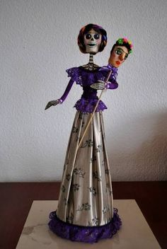 Artesanía Popular Mexicana,catrinas,papel Maché,frida Kahlo , $ 1,900.00
