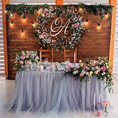 @allaboutposh #allaboutposh Rustic Wedding Backdrop Reception, Head Table Wedding Decorations, Table Cloth Wedding, Bridal Shower Backdrop, Debut Decorations, Birthday Table Decorations, Head Table Decor, Vintage Wedding Backdrop, Wedding Cake Backdrop