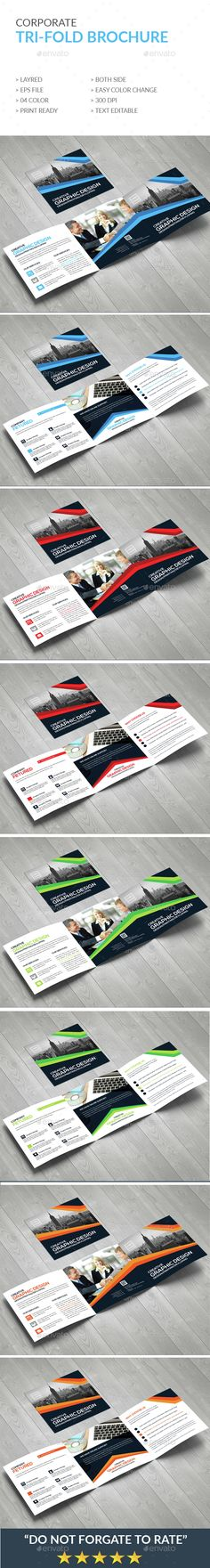 Trifold Brochure - Corporate #Brochures | Download http://graphicriver.net/item/trifold-brochure/15296251?ref=sinzo