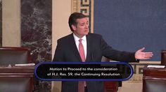 Sen. Ted Cruz Requests Consent to Hold Vote on House-Passed CR