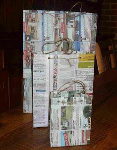 (A través de CASA REINAL) >>>>  Newspaper gift bags