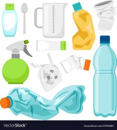 Plastic waste collection on white plastic bottles Vector Image , Recycling Activities For Kids, My Future Job, Earth Day Crafts, Environmental Studies, Green Craft, World Environment Day, How To Make Rope, Plastic Waste, Recycle Plastic Bottles