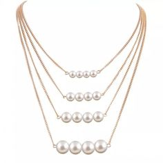 Shop Women's size OS Necklaces at a discounted price at Poshmark. Description: New Gorgeous Faux Pearl Layered Necklace ❤Price is Firm Unless Bundled❤. Sold by drgillie. Fast delivery, full service customer support.