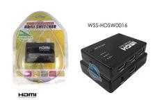 Chaveador HDMI com IR e 3x1 portas. WSS-HDSW0016
