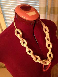 Crochet beads and macrame knotting