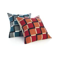 "Reyna Red 20"" Pillow with Down-Alternative Insert  
