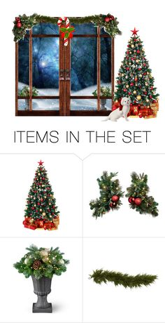 """""""Christmas Door"""" by freida-adams ❤ liked on Polyvore featuring art"""