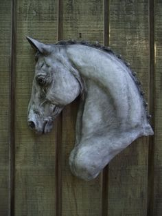 "Dressage Horse wall plaque.  Very 3-D, gorgeous detail.  Finished in a shaded gray.  Wall mount  11"" x 13"" x 2""  $95.  Original sculpture.  Visa/MC PayPal accepted.  Stonepony66@aol.com"