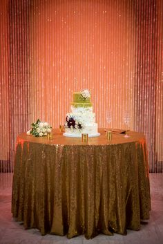 The Chrysler Museum - An arch between the two sets of stairs in Huber Court, highlighted with crystals and lighting, is the perfect location to make your cake a focal point during the reception!