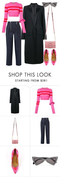 """""""Untitled #2844"""" by moxieremon ❤ liked on Polyvore featuring Haider Ackermann, Maggie Marilyn, Miu Miu, Calvin Klein 205W39NYC, Paul Smith and Yves Saint Laurent"""