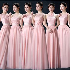 Cheap bridesmaid dresses, Buy Quality long bridesmaid dress directly from China women long bridesmaid dresses Suppliers: C.V Bridesmaid dresses 201 7 new off the shoulder sleeveless Pink color chiffon banquet long bridesmaid dress women Modest Bridesmaid Dresses, Prom Dresses, Wedding Dresses Men Indian, Blush Pink Wedding Dress, Party Mode, Sweet Dress, Beautiful Gowns, Bridal Gowns, Designer Dresses