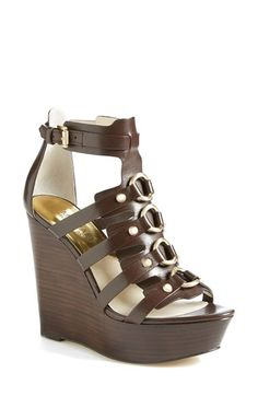 e4cad14b5 MICHAEL Michael Kors 'Nadine' Platform Wedge Sandal (Women) available at  #Nordstrom