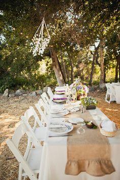 Confesiones de una boda: Manteles centrales o corremesas para bodas