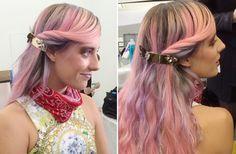 Chloe pink hair