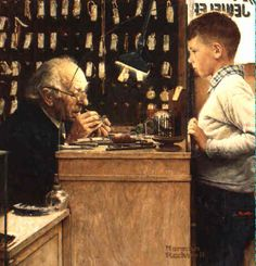 The Watchmaker Norman Rockwell