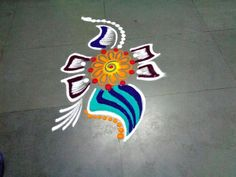 how to make beautiful fancy rangoli design