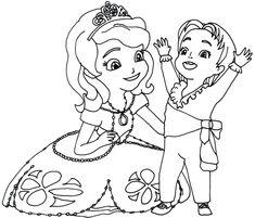 coloriage princesse sofia et ambre | Coloriage, Coloriage ...