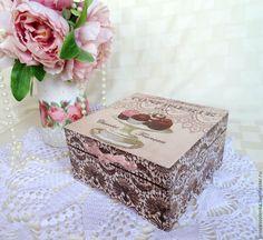 "Caskets handmade. Fair Masters - handmade ""Confiserie-Sweets chocolate"" box for food, sweets, tea. Handmade."