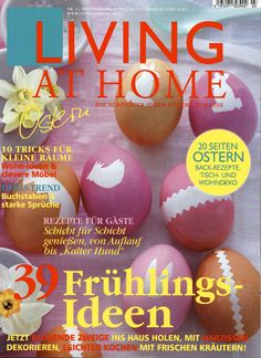 Living at Home Ausgabe Living At Home, Christmas Bulbs, Holiday Decor, Cover, Food, Home Decor, Decoration Home, Christmas Light Bulbs, Room Decor