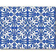 Moroccan tile - cobalt blue and white Postcard