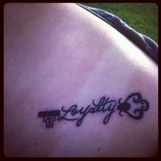 What does loyalty tattoo mean? We have loyalty tattoo ideas, designs, symbolism and we explain the meaning behind the tattoo. I Tattoo, Cool Tattoos, Tatoos, Tattoo Quotes, Awesome Tattoos, Loyalty Tattoo, Nail Piercing, Tattoo Ideas, Tattoo Designs