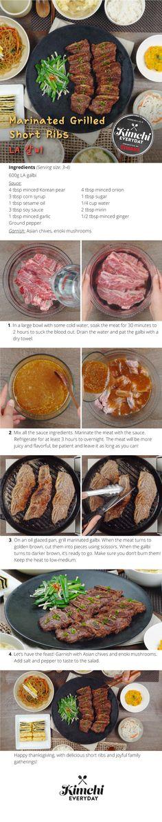 | Korean Beauty, Korean Food Recipes, Beef Recipes, Easy Recipes, Korean Beef, Korean Dishes, Iron Chef, Kimchi, Ribs