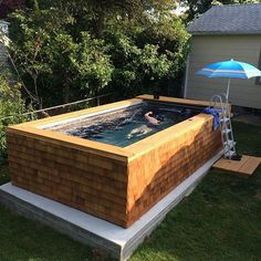 The convenience of a backyard swim, the warmth of cedar shake, and the…