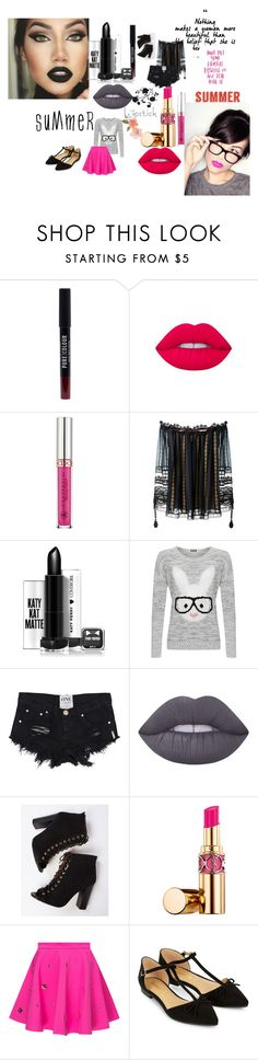 """""""Dualidade batom"""" by iasmimsena on Polyvore featuring moda, New Look, Lime Crime, Anastasia Beverly Hills, Chloé, WearAll, Yves Saint Laurent, Accessorize e summerlipstick"""