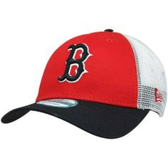MLB New Era Boston Red Sox Mesh Mode Adjustable Hat - Red/Navy Blue/White by New Era. $19.95. Imported. Screen print graphics. Quality embroidery. Structured fit. Adjustable plastic snap strap. New Era Boston Red Sox Mesh Mode Adjustable Hat - Red/Navy Blue/WhiteStructured fitScreen print graphicsImportedAdjustable plastic snap strap100% Cotton front panels & visor/100% Polyester mid & rear panelsQuality embroideryOfficially licensed MLB product100% Cotton front panels & vi...
