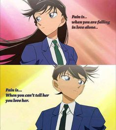 Ran Mouri and Shinichi Kudo.  I love these guys. I am still waiting for a happy ending for these two.