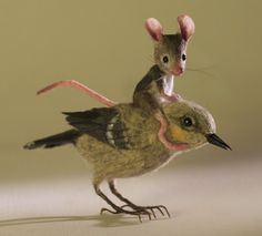 I ride a felted bird (1) From: Mouses Houses, please visit